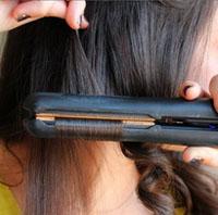 Как накрутить волосы утюжком