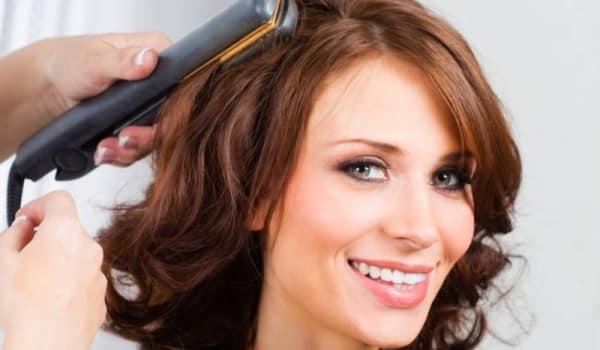 Фото завивки волос утюжком