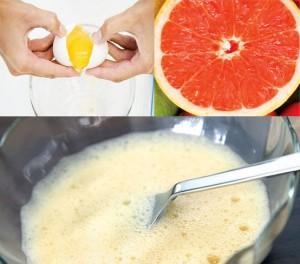 Маска с грейпфрутом и яичным белком