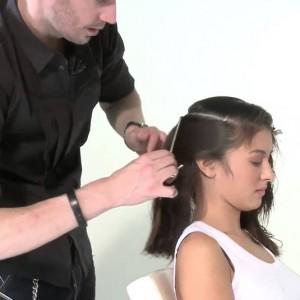 Каскад для волос средней длины