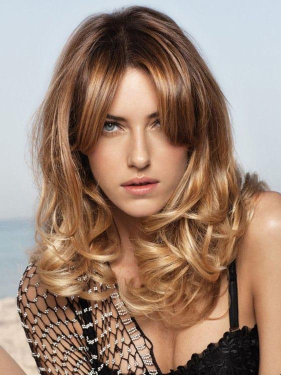 Омбре на светлые волосы вид спереди 5