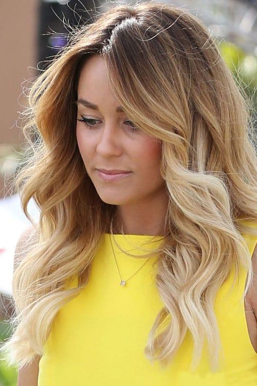 Омбре на светлые волосы вид спереди 6