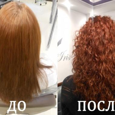 Биозавивка волос до и после 1