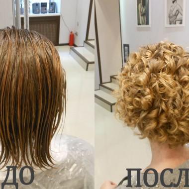 Биозавивка волос до и после 3