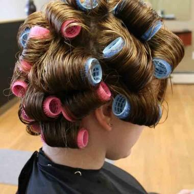 Волосы на бигуди-липучки 1