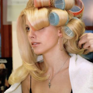 Волосы на бигуди-липучки 3