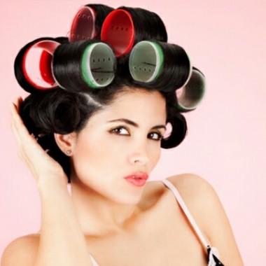 Волосы на бигуди-липучки 5