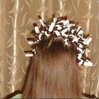 Волосы на бумажки или тряпочки