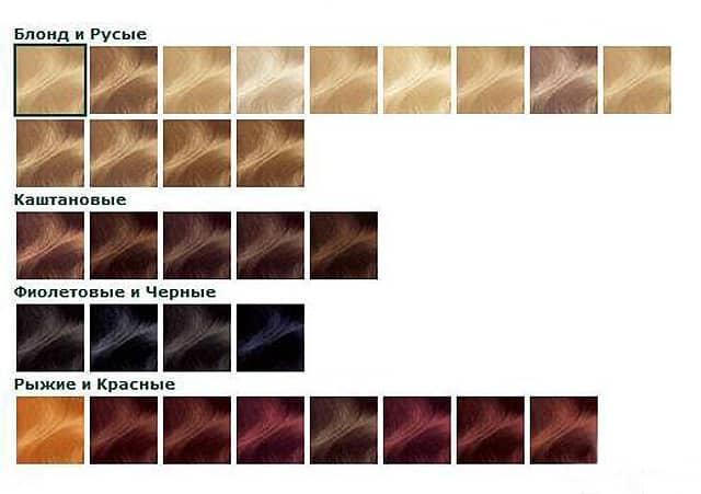 Garnier Палитра 100% цвета