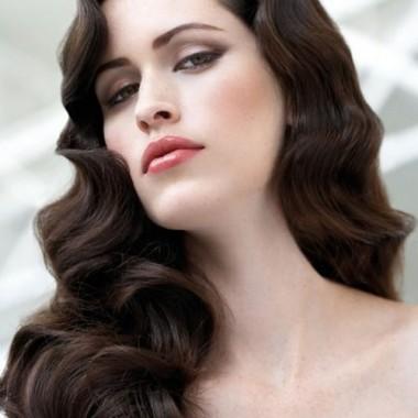 Ретро волны на длинных и средних волосах 3