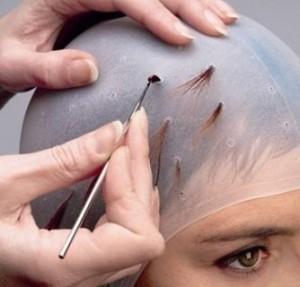 Мелирование с использованием специальной шапочки