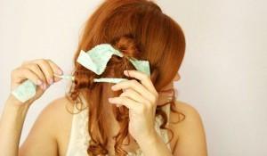 завивка волос тряпочками