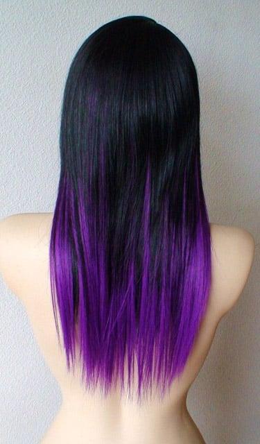 Переход из черного в фиолетовый