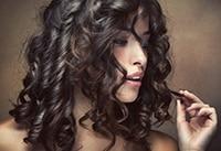 кудрявые локоны на длинные волосы
