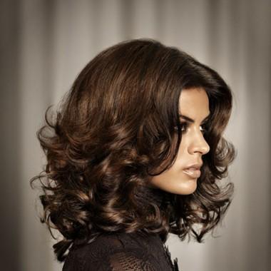 объемные локоны для коротких волос