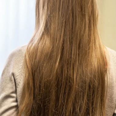 волосы до биоламинирования