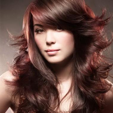 многослойная стрижка для длинных кудрявых волос