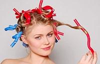 накрутить волосы на бигуди-бумеранги