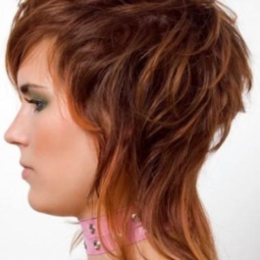 аврора на вьющихся волосах с мелированием