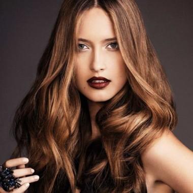 классическое брондирование на темно-русые волосы