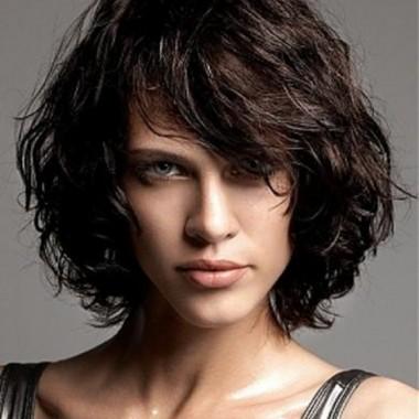 укладка каре с эффектом мокрых волос