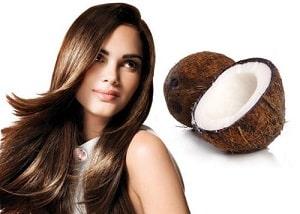 Фотография девушки и кокоса