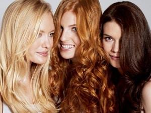 Девушки с разными волосами