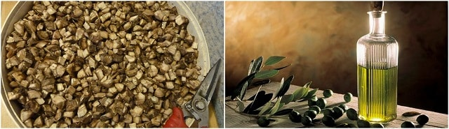 Фотография корня лопуха и оливкового масла