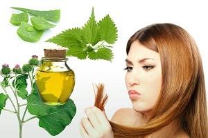 Фотография волос и ингредиентов для маски