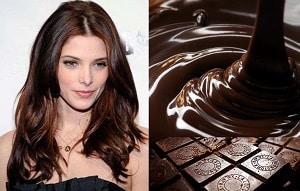 Девушка и шоколад