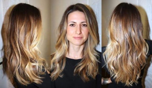 Шатуш на светлые волосы 2