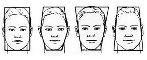 Картинка разных форм лица