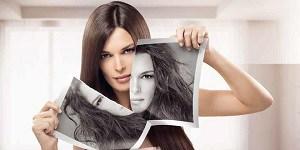 Фотография девушки с блестящими волосами