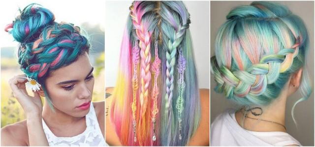 Фотография цветных кос