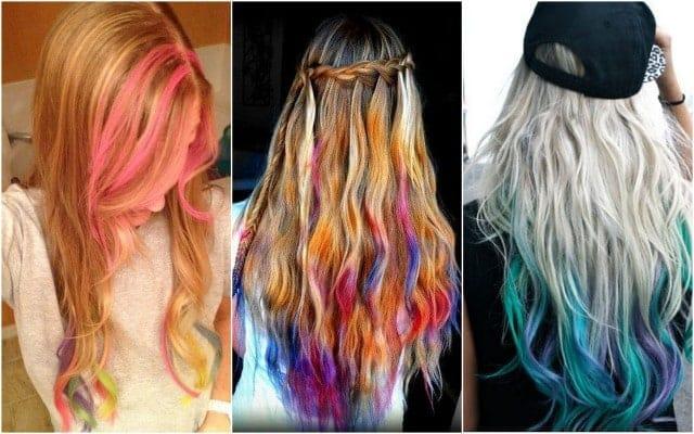 Нанесение мелков на светлые волосы