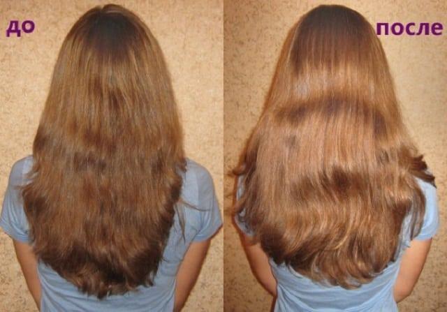 Волосы после использования нашатырного спирта