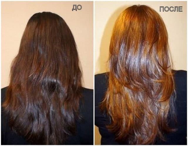 Волосы до и после тонировки