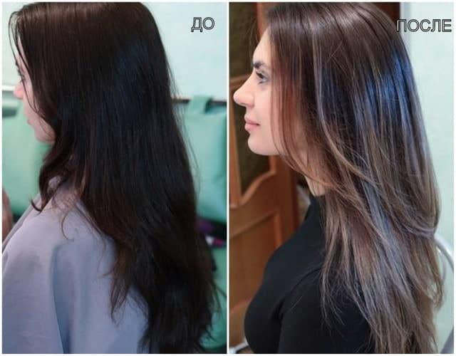 Фото тонированных волос