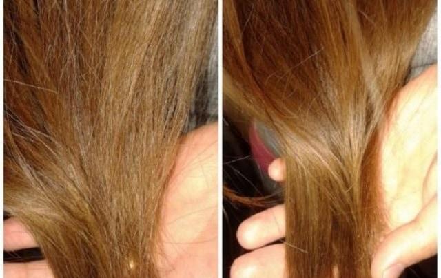 Волосы после использования масла