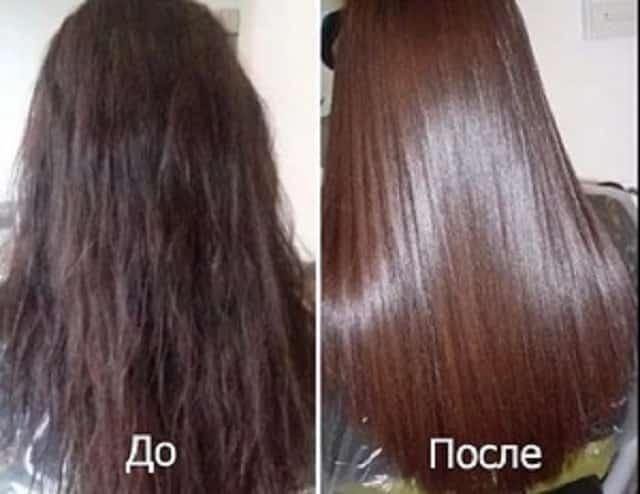 Волосы до и после применения масла арганы